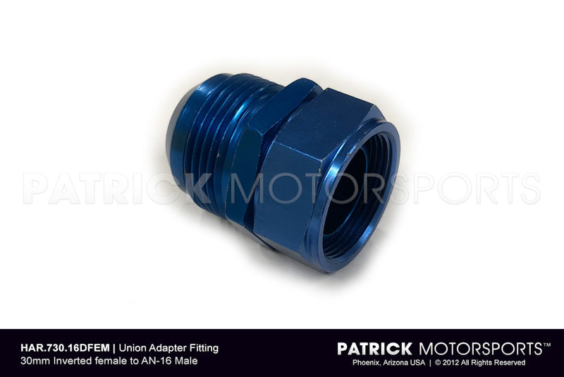 Engine Oil Adapter Union Fitting AN-16 Male To 30mm Female HAR 730 16DFEM / HAR 730 16DFEM / HAR-730-16DFEM / HAR.730.16DFEM / HAR73016DFEM