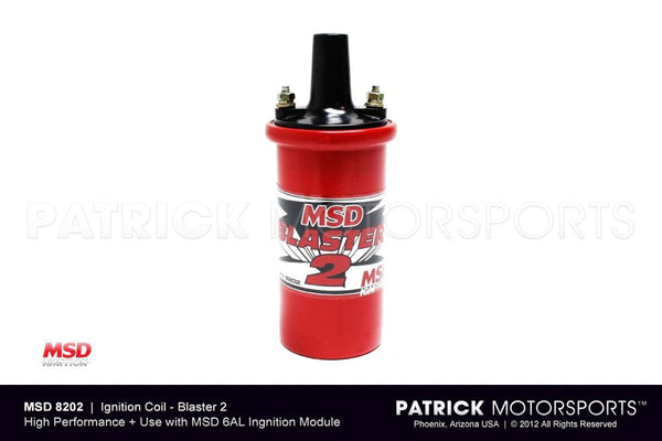 IGNITION COIL - BLASTER 2 - HIGH PERFORMANCE - RED BODY - MSD- IGNMSD8202
