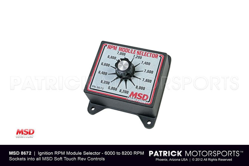 Ignition RPM Control Module Selector Switch 6000 - 8200 Rpm / MSD IGN MSD 8672 / IGN MSD 8672 / IGN-MSD-8672 / IGN.MSD.8672 / IGNMSD8672