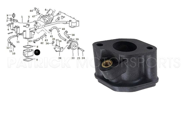 ENGINE FUEL INJECTOR BLOCK FLANGE PORSCHE 911 TURBO / 930 / 965- ENG93011014103