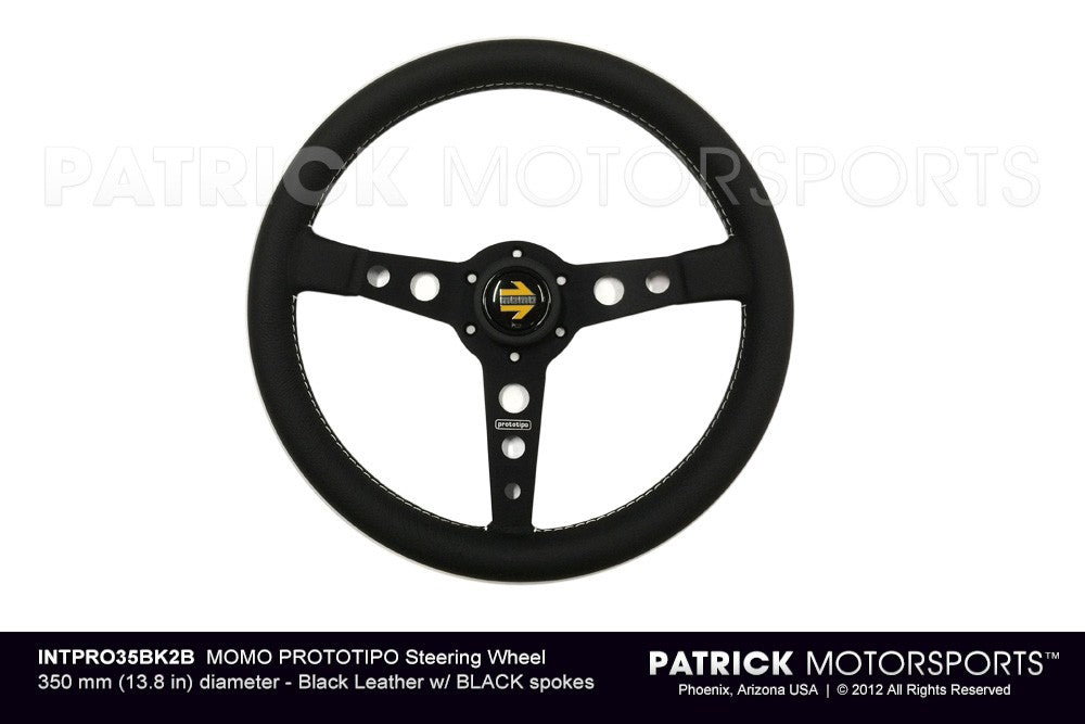 INT PRO35BK2B: MOMO PROTOTIPO STEERING WHEEL - BLACK