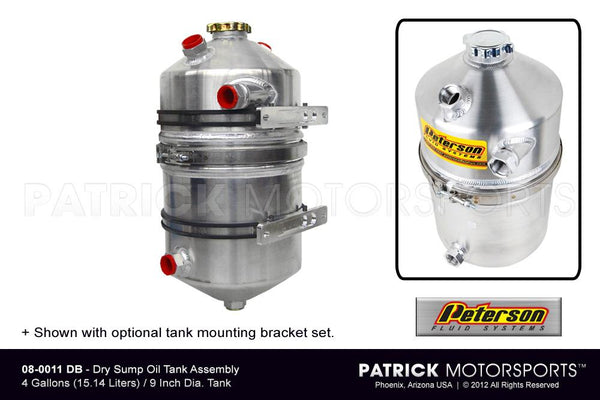 Dry Sump Oil Tank Assembly - 4 Gallon OIL 08 0011 DB / OIL 08 0011 DB / OIL-08-0011-DB / OIL.08.0011.DB / OIL080011DB