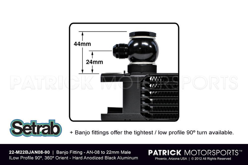BANJO FITTING - AN-08 - LOW PROFILE 90º- OILSET22M22BJAN0890