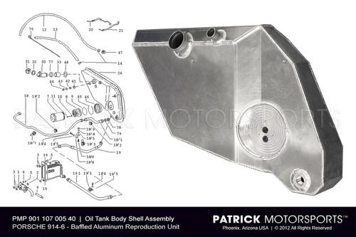 914-6 Engine Oil Tank Body Shell Assembly - RepRoduction Dry Sump Conversion OIL 901 107 005 40 PMS / OIL 901 107 005 40 PMS / OIL-901-107-005-40-PMS / OIL.901.107.005.40.PMS / OIL90110700540PMS / 901 107 005 40 / 901-107-005-40 / 901.107.005.40 / 90110700540