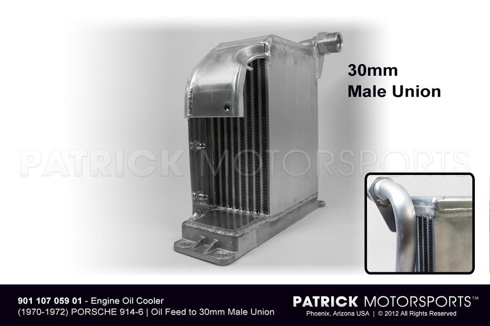 OIL 901 107 059 01 STO: ENGINE OIL COOLER - (1970-1972) PORSCHE 914-6 - REPRODUCTION