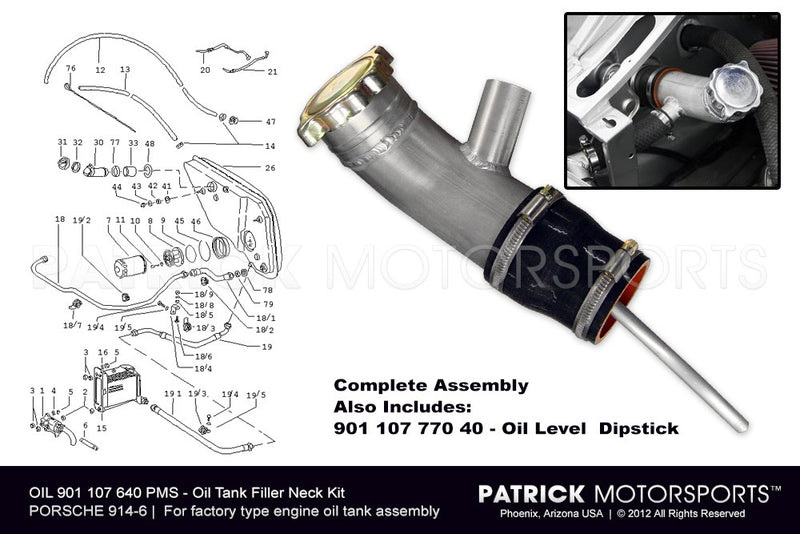 914-6 Oil Tank Filler Neck Kit OIL 901 107 640 PMS / OIL 901 107 640 PMS / OIL-901-107-640-PMS / OIL.901.107.640.PMS / OIL901107640PMS