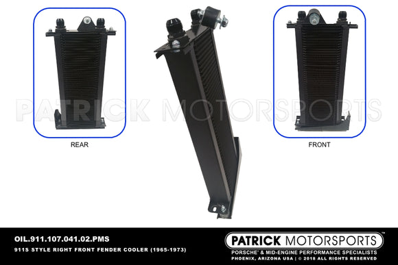 Porsche 911 Front Right Fender Oil Cooler Kit OIL 911 107 046 00 PMS / OIL 911 107 046 00 PMS / OIL 911 107 041 02 PMS / OIL-911-107-046-00-PMS / OIL.911.107.046.00.PMS / OIL91110704600PMS