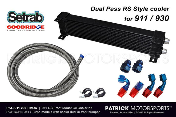 FRONT CENTER MOUNT OIL COOLER SET - PORSCHE 911 RS STYLE- OIL911207FMOC