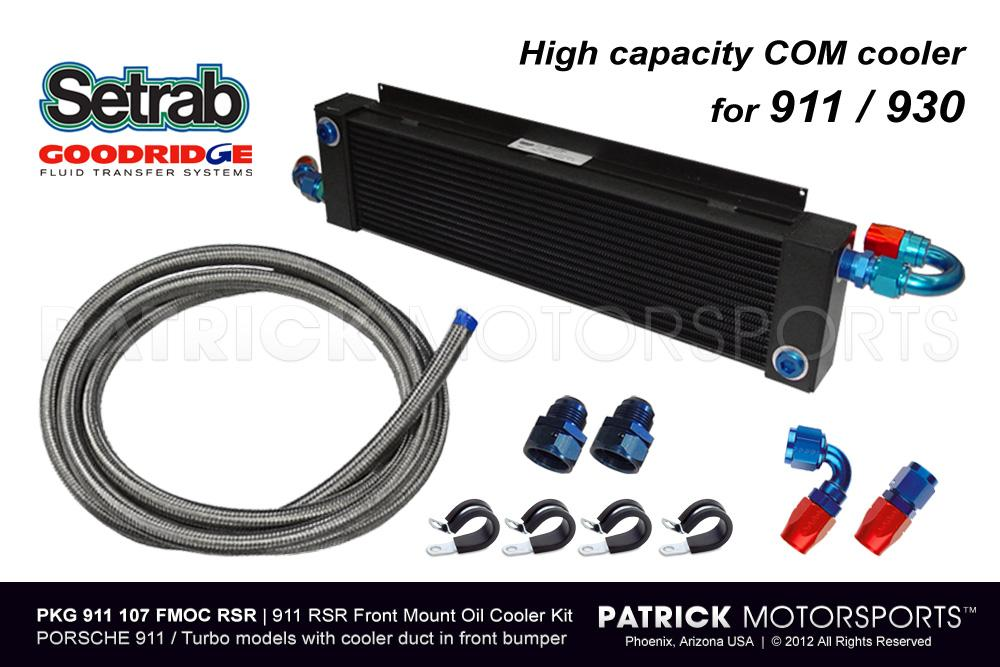 OIL 911 207 FMOC RSR: FRONT CENTER MOUNT OIL COOLER SET - 911 930 RSR STYLE