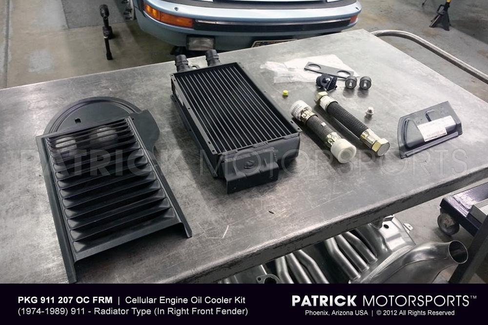 OIL 911 207 OC FRM: 911 / 930 FRONT LEFT SIDE MOUNT OIL COOLER SET