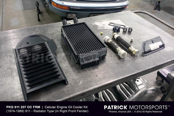 Porsche 911 / 930 Front Right Side Mount Oil Cooler Set OIL 911 207 OC FRM PMS / OIL-911-207-OC-FRM-PMS / OIL.911.207.OC.FRM.PMS / OIL911207OCFRMPMS