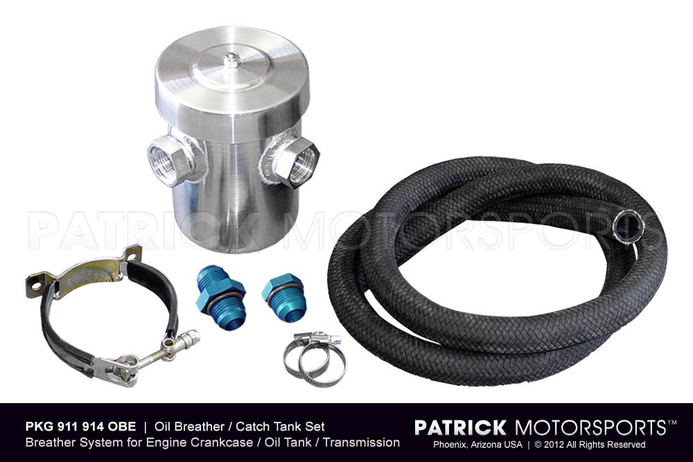 OIL 911 914 OBE PMS: OIL BREATHER CATCH TANK SET FOR ENGINE CRANKCASE VENTILATION