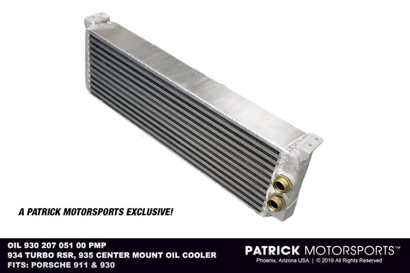 New Reproduction 934 Turbo RSR / 935 Center Mount Oil Cooler OIL 930 207 051 00 PMP / OIL 930 207 051 00 PMP / OIL 930 207 051 00 PMP / OIL-930-207-051-00-PMP / OIL.930.207.051.00.PMP / OIL93020705100PMP