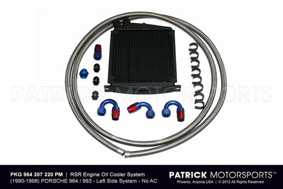 964 - 993 RSR Auxiliary Engine Oil Cooler System - No AC OIL 964 207 RSR PMS / OIL 964 207 RSR PMS / OIL-964-207-RSR-PMS / OIL.964.207.RSR.PMS / OIL964207RSRPMS