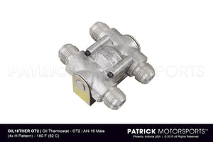 OIL THERMOSTAT - AN-16 MALE - 180 F (82.22 C)- OIL16THEROT2