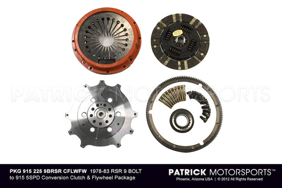 1978-83 9-BOLT RSR 225MM TO 915 5SPD CONVERSION CLUTCH & FLYWHEEL PKG- PKG9152259BRSRCFLWFW