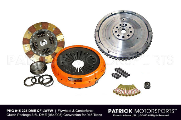 Lightweight Flywheel & Centerforce Clutch Package 3.6L DME (964/993) Conversion For 915 Trans (PKG 915 225 DME CF LWFW 29 00 LBS PMS)