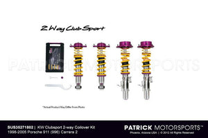 SUS 35271802: KW CLUBSPORT 2-WAY COILOVER KIT 1998-2005 PORSCHE 911 (996) CARRERA 2