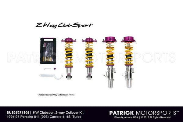 KW CLUBSPORT 2-WAY COILOVER KIT 1994-97 PORSCHE 911 (993) CARRERA 4, 4S, TURBO- SUS35271805