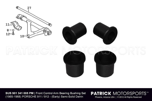 Porsche 911 / 912 Front Lower Control Arm Bearing Bushing Set SUS 901 341 005 PMS / SUS 901 341 005 PMS / SUS-901-341-005-PMS / 901.341.005/ 901341005