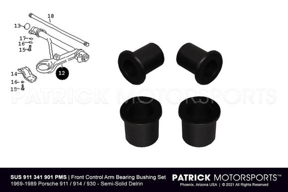 Porsche 911 / 914 / 930 Front Lower Control Arm Bearing Bushing Set SUS 911 341 901 PMS / SUS 911 341 901 PMS / SUS-911-341-901-PMS / SUS.911.341.901.PMS / SUS911341901PMS