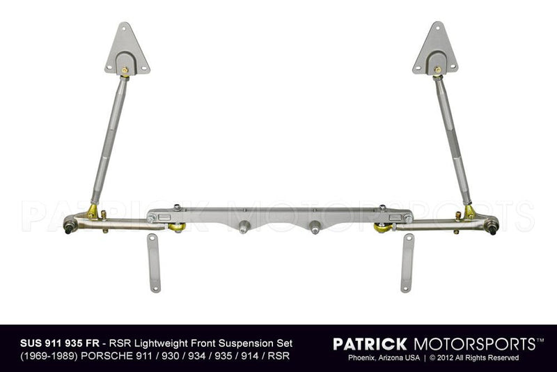 PORSCHE 911 930 935 RSR LIGHTWEIGHT FRONT CONTROL ARM & CROSS MEMBER SUSPENSION SET- SUS911341935FR