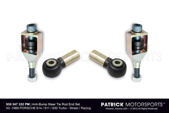 ANTI-BUMP STEER TIE ROD END SET - 914 / PORSCHE 911 / 930 TURBO- SUS930347322PMS
