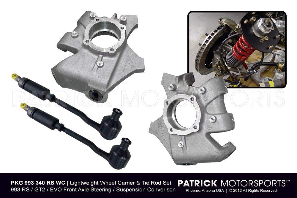 SUS 993 340 RS WC PMS: 993 RS / GT2 / EVO LIGHTWEIGHT WHEEL CARRIER / HUB & T-ROD PACKAGE