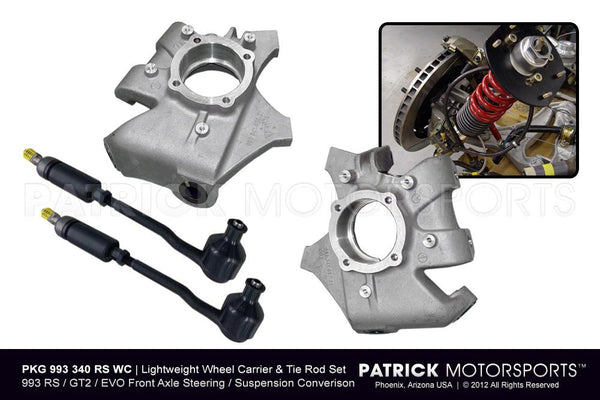 993 RS / GT2 / EVO LIGHTWEIGHT WHEEL CARRIER / HUB & T-ROD PACKAGE- SUS993340RSWCPMS