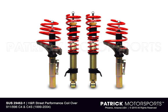 H and R Street Performance Coilover Suspension Kit For Porsche 996 C4 C4S SUS 29462 1 / SUS 29462 1 / SUS-29462-1 / SUS.29462.1 / SUS294621