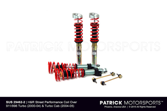 H and R Street Performance Coilover Suspension Kit For Porsche 996 Turbo SUS 29462 2 / SUS 29462 2 / SUS-29462-2 / SUS.29462.2 / SUS294622