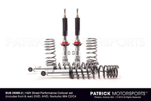 SUS 29580 2: H&R STREET PERFORMANCE COILOVER SET (INCLUDES FRONT & REAR) 2WD, AWD, NONTURBO 964 C2/C4