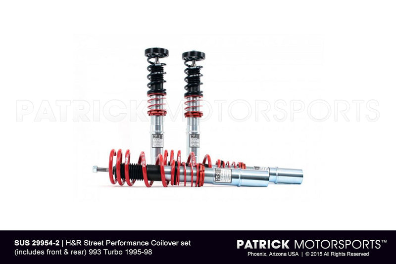 H and R Street Performance Coilovers Set 993 Turbo 1995-1998 SUS 29954 2 / SUS 29954 2 / SUS-29954-2 / SUS.29954.2 / SUS299542