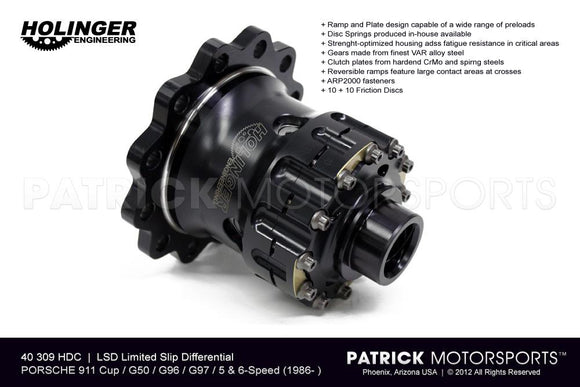LSD LIMITED SLIP DIFFERENTIAL - PORSCHE 911 CUP / G50 / G96 / G97- TRA40309HDC