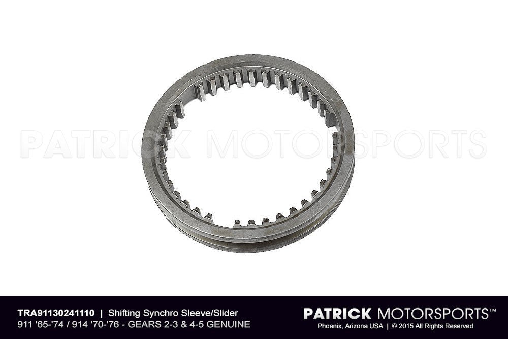 TRA 911 302 411 10: SLIDER - SHIFTING SYNCHRO SLEEVE - PORSCHE 911 1965-1974 / 914 1970-1976 - GEARS 2-3 & 4-5