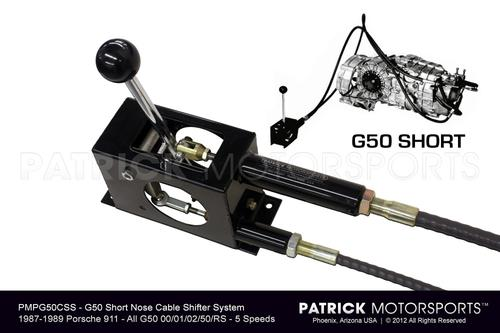 G50 CABLE SHIFTER SYSTEM - (1987-1989) PORSCHE 911 CARRERA - G50.00 / 01 / 02 / 50 - 5 SPEED TRANSMISSIONS- TRA950424CABSG50PMP