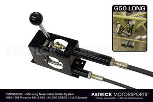 G50 (LONG NOSE) CABLE SHIFTER SYSTEM - (1990-1998) PORSCHE 964 / 993 G50 52  / 20 / 21 - 5 & 6 SPEED TRANSMISSIONS- TRA950424CABSG50LPMP