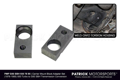 TRA 930 G50 SBH 930 78 85 PMS: G50 SBH TRANSMISSION CARRIER MOUNT BLOCK ADAPTER SET - PORSCHE 930 TURBO