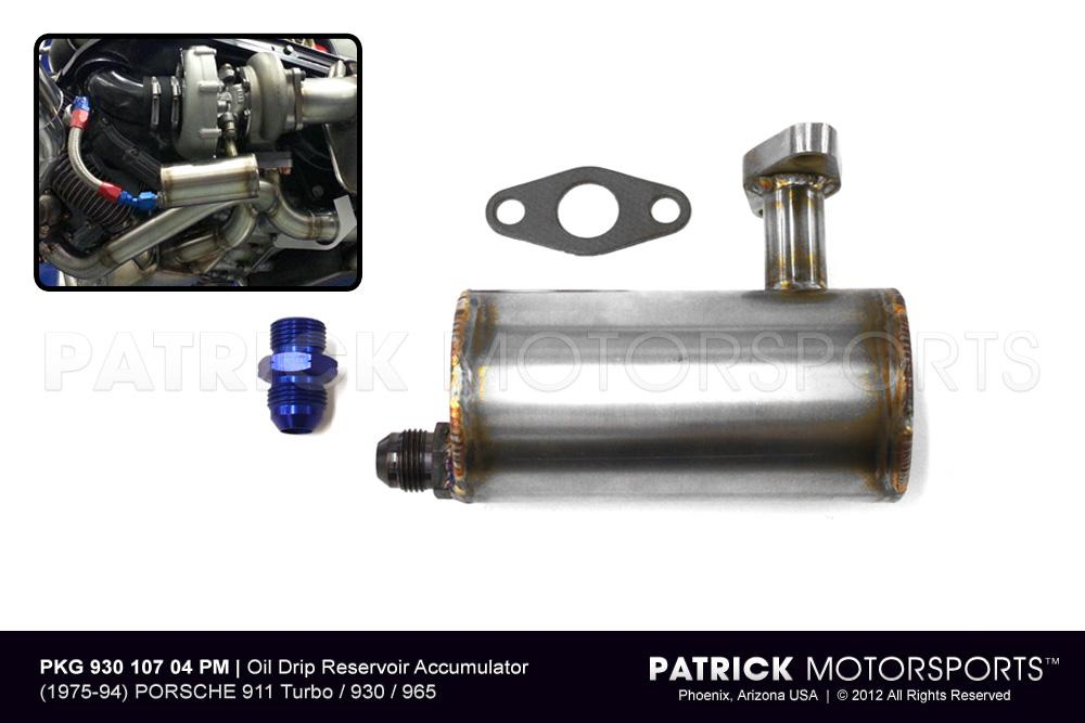 TUR 930 107 004 PM: 911 TURBO - OIL DRIP RESERVOIR ACCUMULATOR ON TURBOCHARGER