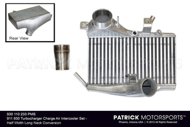 TUR 930 110 233 PMS: 911 930 TURBOCHARGER CHARGE AIR INTERCOOLER SET - HALF WIDTH LONG NECK CONVERSION