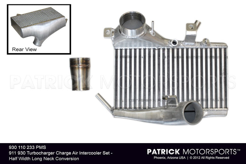 Porsche 911 / 930 Turbocharger Charge Air Intercooler Set - Half Width Long Neck Conversion TUR 930 110 233 PMS / TUR 930 110 233 PMS / TUR-930-110-233-PMS / TUR.930.110.233.PMS / TUR930110233PMS