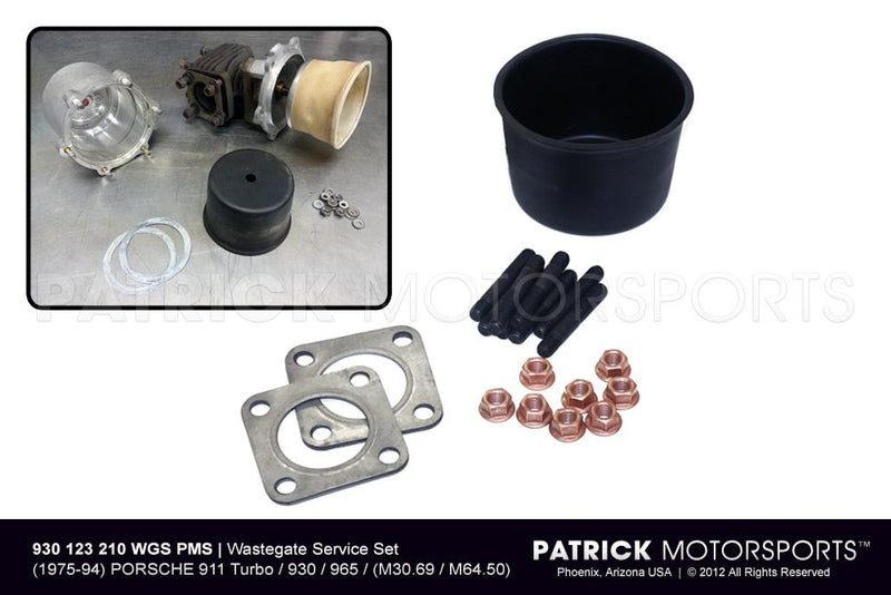 EXHAUST WASTEGATE SERVICE SET - PORSCHE 911 TURBO - 930 - 965- TUR930123210WGSPMS