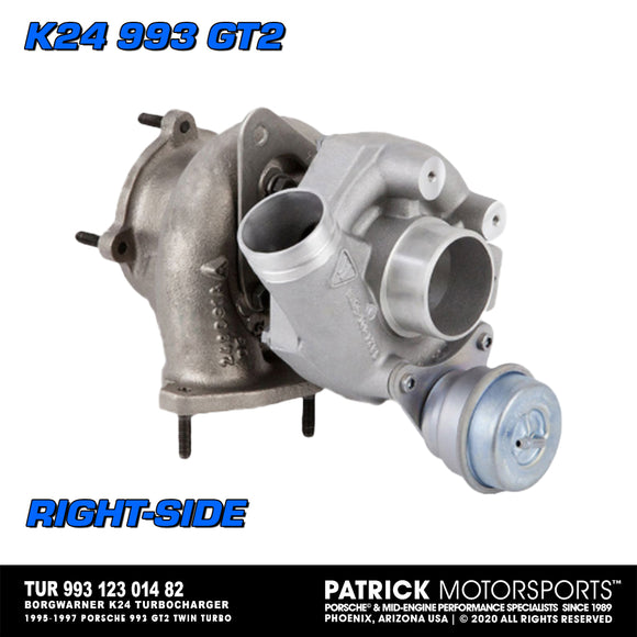 12/3/2020 New Stock, Ready to Ship! Borgwarner K24 Turbo For Porsche 993 GT2 - Right (TUR 993 123 014 82 / 53249887004 / 993123114HP)