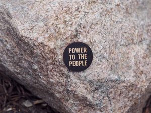 """Power to the people"" button"