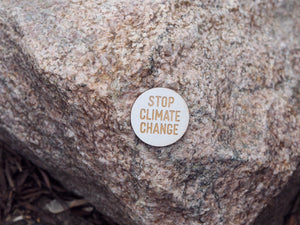"""Stop climate change"" button"