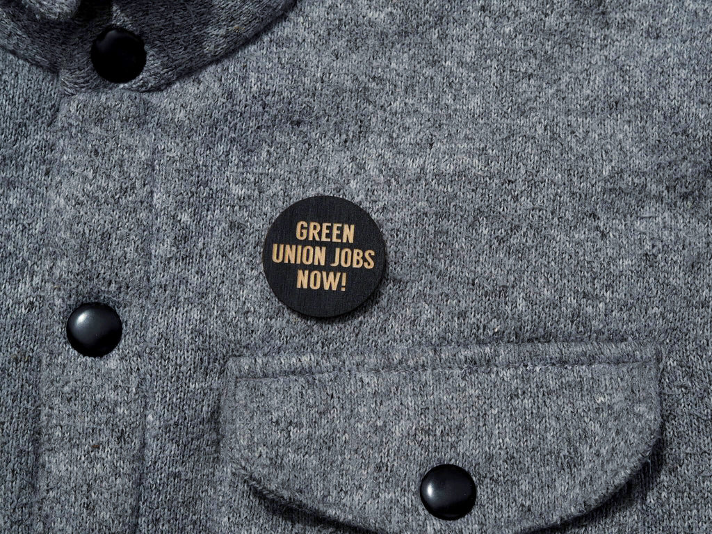 """Green union jobs now"" button"