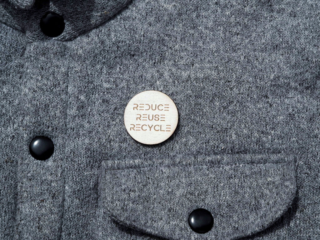 """Reduce Reuse Recycle"" button"