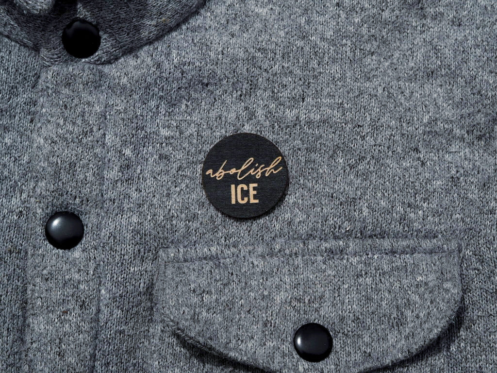 """Abolish ICE"" button"