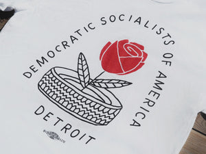 White Detroit DSA T-shirt