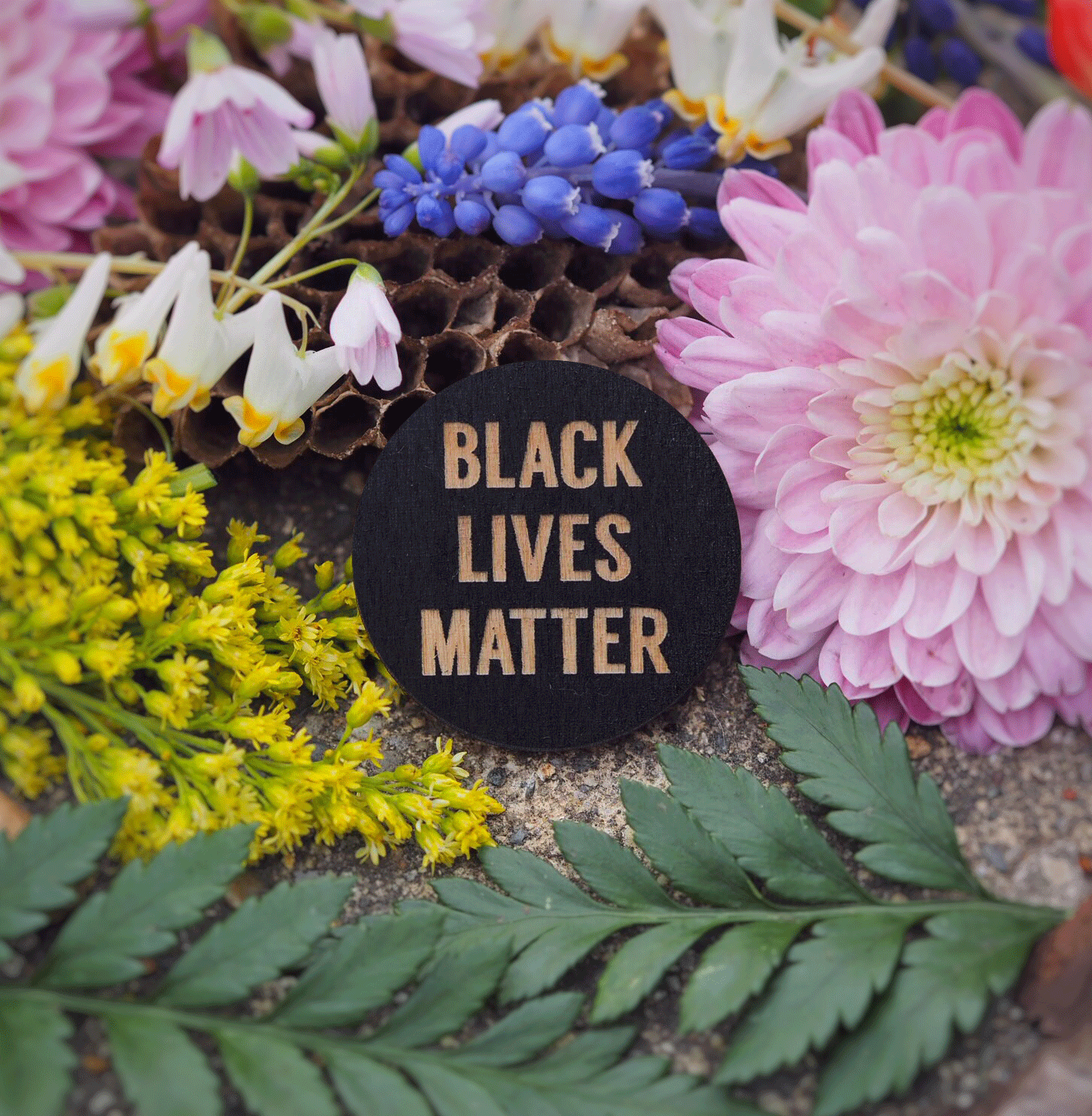 """Black Lives Matter"" button"